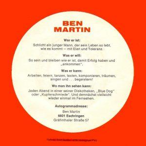 Ben Martin - persönliche Infos
